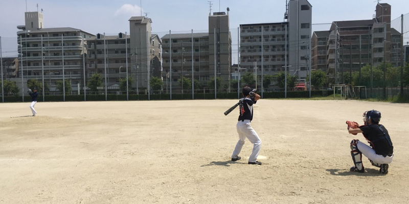 若園運動広場グラウンドでの練習