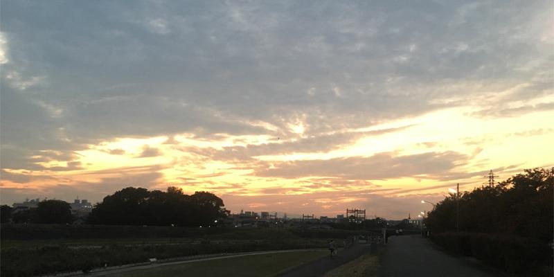 夕方ランニングの夜景