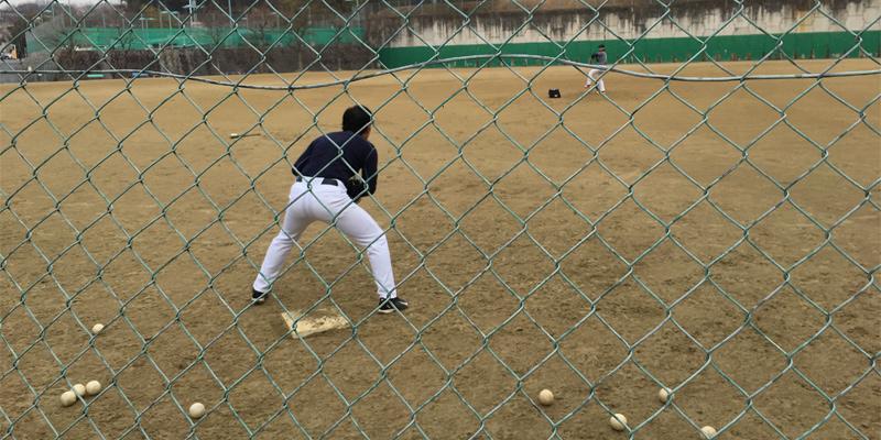 ファーストの捕球練習2