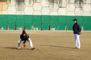 元大学軟式野球日本代表選手の指導