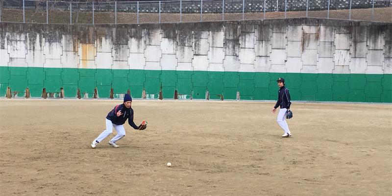 元大学軟式野球日本代表選手のノック